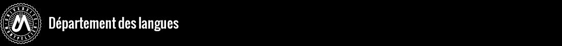 Département des langues Logo